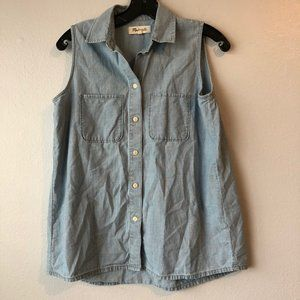 Madewell Denim/Chambray Button-Down Blouse